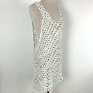 Beauty The Beach White Crochet Top Swimsuit Cover
